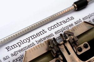 Employment contract on the website of wrongful termination attorneys Columbus