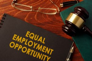 A book with title Equal Employment Opportunity on the desk of columbus employment discrimination lawyer