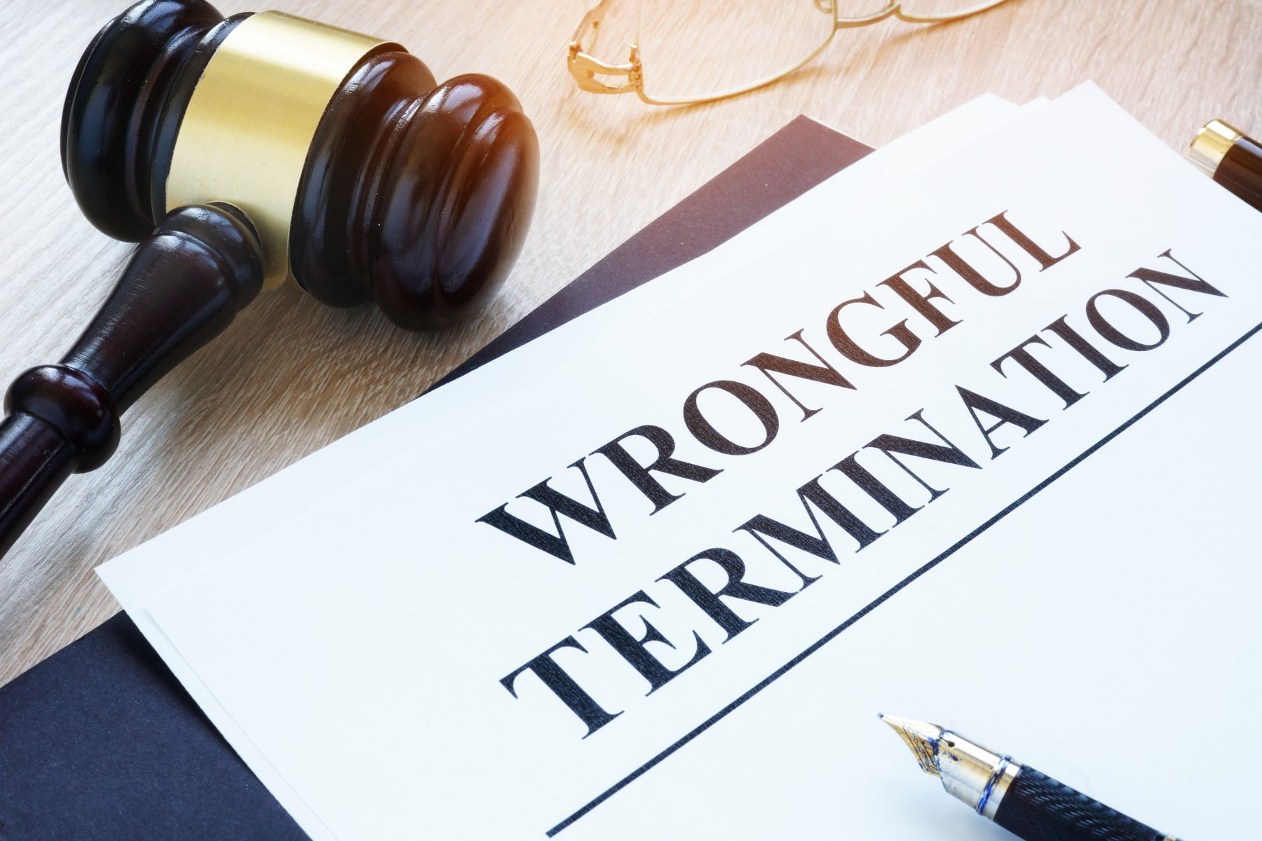 Wrongful termination with a gavel.